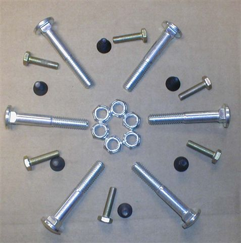 Wood wheel bolt kit 1 wheel